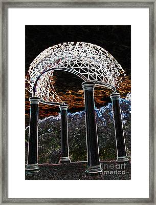 Framed Print featuring the photograph Gazebo 1 by Minnie Lippiatt