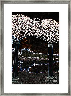 Framed Print featuring the photograph Gazebo 2 by Minnie Lippiatt