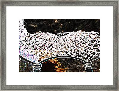 Framed Print featuring the photograph Gazebo 4 by Minnie Lippiatt