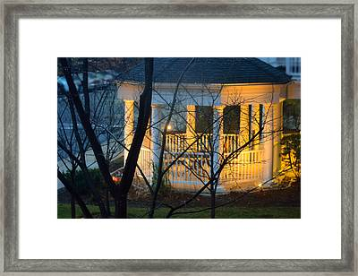 Gazebo After Dark Framed Print