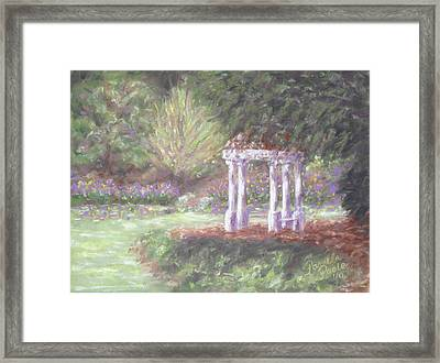 Gazebo At Hopelands In Spring Framed Print