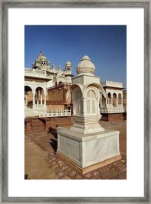 Gazebo At Jaswant Thada Mausoleum / Framed Print