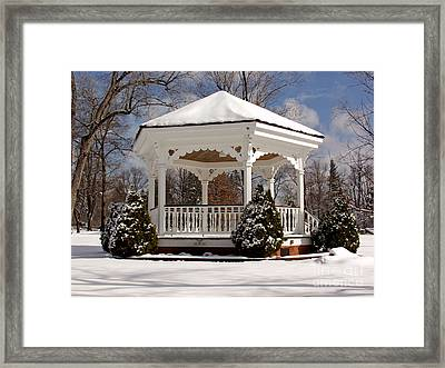 Gazebo At Olmsted Falls - 2 Framed Print