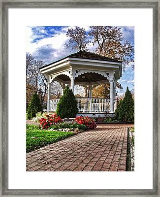 Gazebo At Olmsted Falls - 3 Framed Print