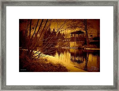 Gazebo By The Creek 02 Framed Print