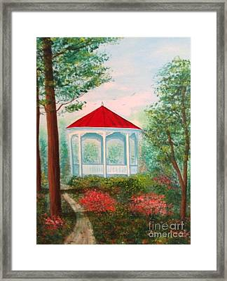 Gazebo Dream Framed Print by Becky Lupe