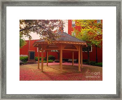 Framed Print featuring the photograph Gazebo In Pink by Becky Lupe