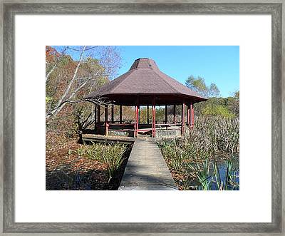 Framed Print featuring the photograph Gazebo by Philomena Zito