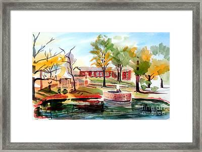 Gazebo Pond And Duck II Framed Print