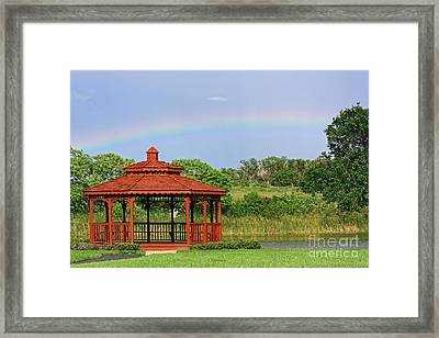Gazebo Rainbow Framed Print