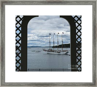Gazebo View And Margaret Todd Framed Print