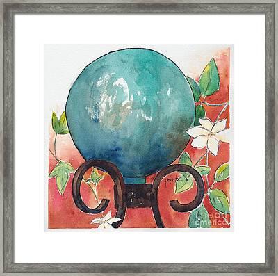 Gazing Ball Framed Print by Pat Katz