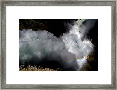Gazing Down Into The Heart Of Nevada Falls Framed Print