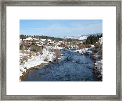 Gazing Over The Truckee River Framed Print