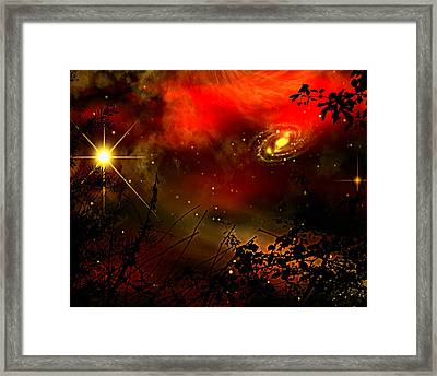 Framed Print featuring the painting Gazing The Galaxy by Persephone Artworks