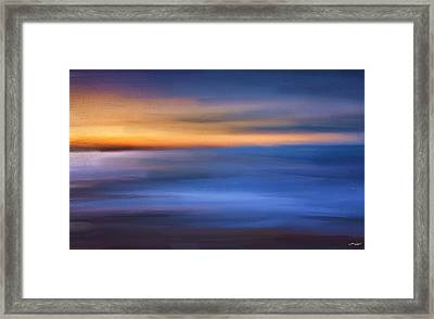 Gazing The Horizon Framed Print by Lourry Legarde