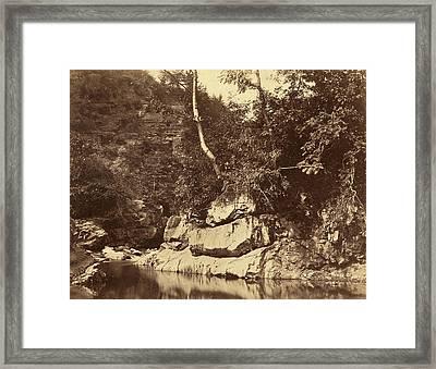 G.b. Gething British, Active C.1850s, River Scene Framed Print