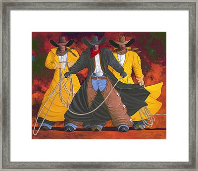 Framed Print featuring the painting Good Bad And Ugly by Lance Headlee