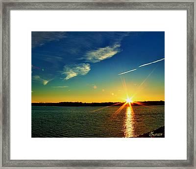Gc Lake Sunrise Framed Print