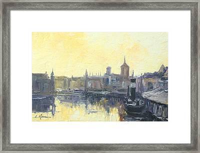 Gdansk Harbour - Poland Framed Print