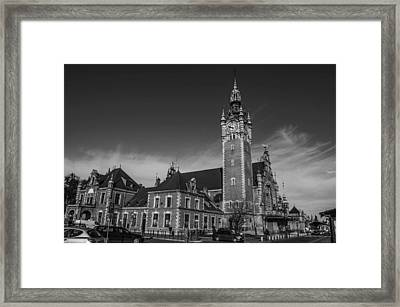 Gdansk Main Station Bw Framed Print by Adam Budziarek