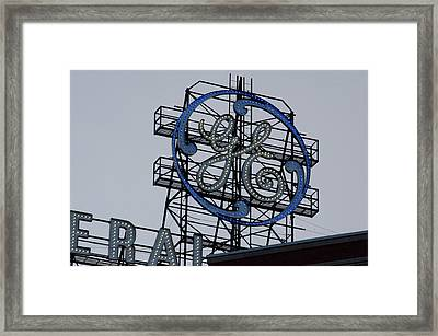 Ge Sign - Fort Wayne Framed Print