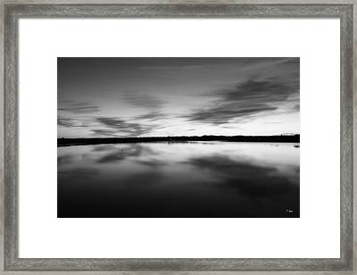 Peaceful Sunset Framed Print by Thomas Leon