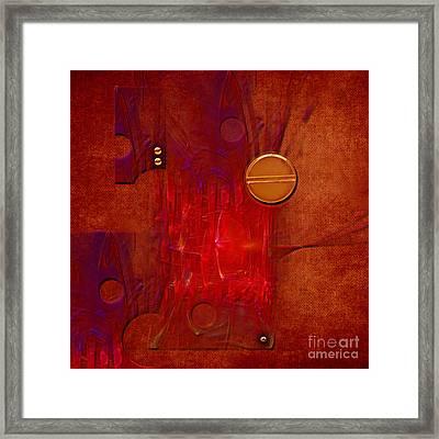 Framed Print featuring the digital art Gear by Alexa Szlavics