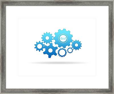 Gear Clout Framed Print by Aged Pixel