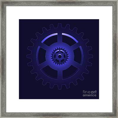 Gear - Cog Wheel Framed Print by Michal Boubin