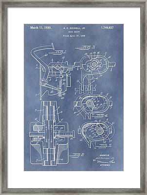Gear Shift Patent Framed Print by Dan Sproul