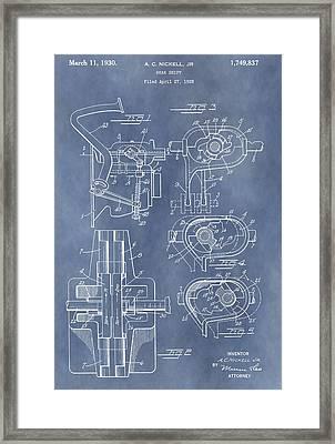 Gear Shift Patent Framed Print