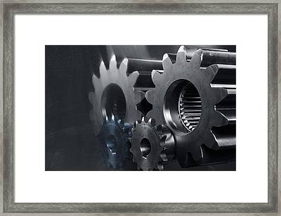 Gears And Power Framed Print
