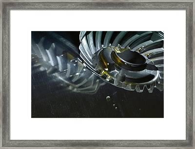 Gears Cogs And Oil Industry Framed Print by Christian Lagereek