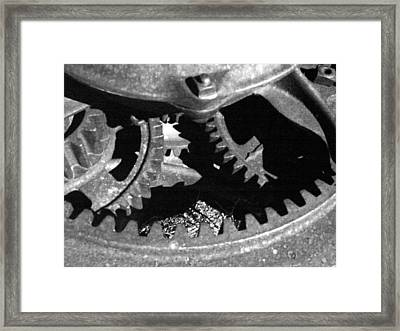 Gears Dark Framed Print