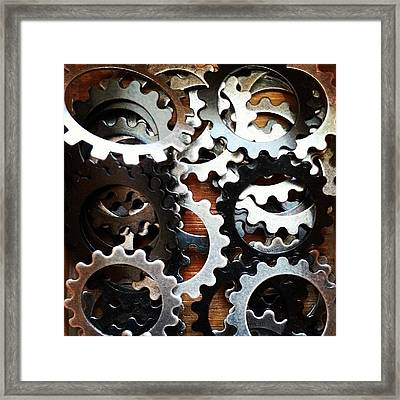 #gears #decorative #beads #store Framed Print