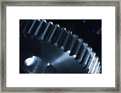 Gears Engineering In Space Framed Print by Christian Lagereek