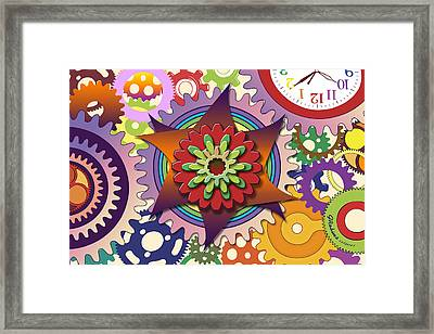 Gears Framed Print by Gerry Robins