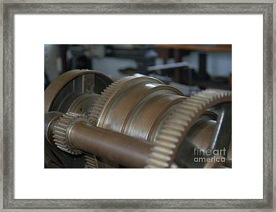Gears Of Progress Framed Print