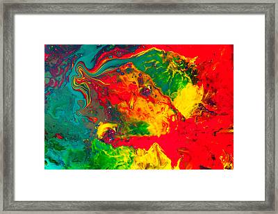 Gecko - Colorful Abstract Painting Framed Print