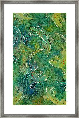 Gecko Magic Framed Print