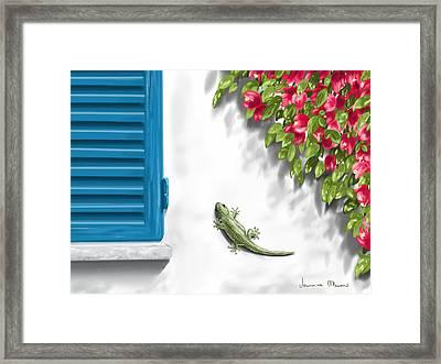 Geco Framed Print