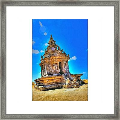 Gedong Songo (indonesian: Candi Gedong Framed Print by Tommy Tjahjono