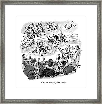 Gee, Dad, Aren't You Glad We Came? Framed Print by Robert J. Day