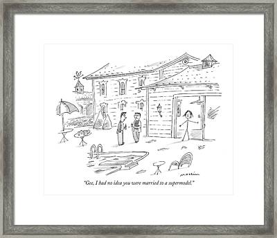 Gee, I Had No Idea You Were Married Framed Print