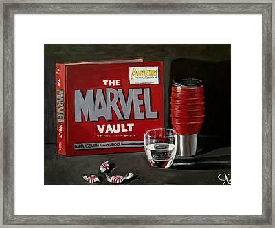 Geek Obsession - Still Life Acrylic Painting - Marvel Comics - Ai P. Nilson Framed Print