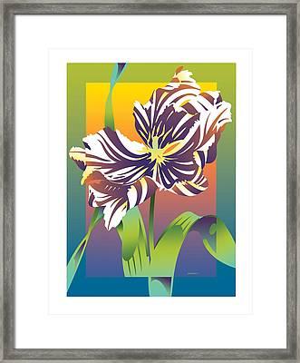 Geen Flamboyance Framed Print