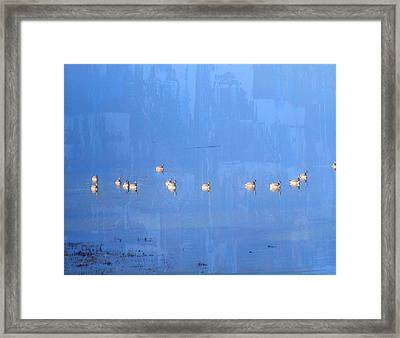 Geese Galore Framed Print by Lyn  Perry