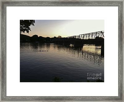 Geese Going Places Framed Print