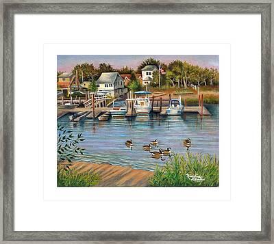 Geese In Hamilton Beach Framed Print